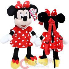 """Disney Minnie Mouse Red Plush Doll Backpack Costume Bag -22"""" Red Bow"""
