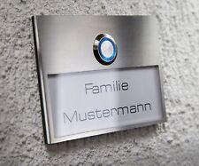 EDELSTAHL Haustürklingel LED Klingeltaster Türklingel Klingelplatte klingel grav