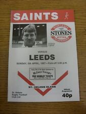 05/04/1987 Rugby League Programme: St Helens v Leeds  . Thanks for viewing this