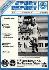 BL 79/80 MSV Duisburg - 1. FCKöln, 10.11.1979 - Bernd Schuster
