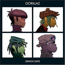 "GORILLAZ "" DEMON DAYS "" NEW UK LP RE-ISSUE MINT"
