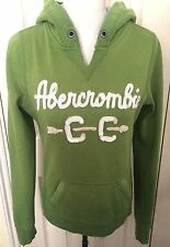 Abercrombie & Fitch Women Green Long Sleeve Hoodie Size M