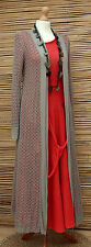 LAGENLOOK AMAZING QUIRKY SUMMER CROCHET LONG CARDIGAN/COAT*MOCHA* SIZE 10-16