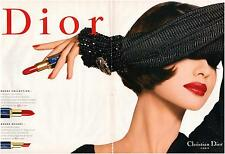▬► PUBLICITE ADVERTISING AD DIOR Christian DIOR rouge à lèvres rouge 2 PAGES