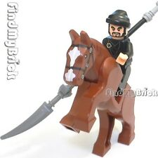 NEW Lego Three Kingdoms Custom Zhang Fei Minifigure & Horse 三国の张飞 丈八蛇矛 と 閉月烏 NEW