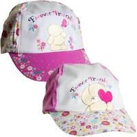 Girls Forever Friends Bear Novelty Summer Sun Hat Peak Cap Pink 2-6 yrs