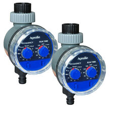 2pc Automatic Electronic Water Timer Home Garden Irrigation Controller System