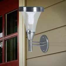 Pure Garden Outdoor Wall or Post Mount Solar Lights - Set of 2