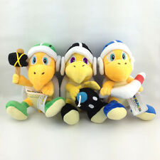 3X Super Mario Bros Boomerang Hammer Bomb Bro. Koopa Plush Toy Stuffed Animal 8""