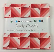 """Simply Colorful by V and Co - fabric Charm Squares- 42 x 5"""" squares Moda"""
