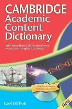 Cambridge Academic Content Dictionary Reference Book with CD-ROM by