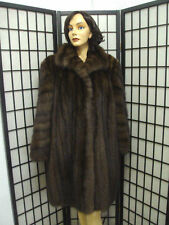 EXCELLENT RUSSIAN SABLE FUR COAT JACKET WOMAN WOMEN SIZE 10-12 MEDIUM