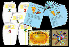 BABY SHOWER GAMES DIRTY NAPPIES FOR BABY BOY WITH 10 PLAYER SHEETS BLUE COLOUR