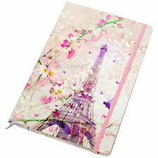 Chacha By Iris Eiffel Tower A5 Lined 192 Page Hardback Paper Notebook Journal