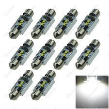 10X White 36MM 35MM 37MM 2 CREE LED Festoon Dome Light Interior Bulbs Auto ZI134