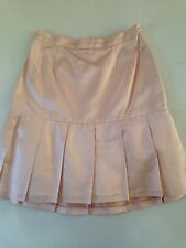 CHANEL Satin Silk Flirty Semi-Pleated Pink Mini Skirt with Fluffy Liner S 40