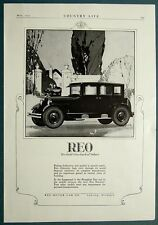 Original 1925 REO Motor Car Co. Ad THE GOLD STANDARD OF VALUES 10 by 14