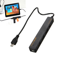 High Speed 3 Port USB 2.0 to Micro USB OTG Hub Reader Adapter Charger Cable Tab