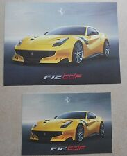 Ferrari f12tdf Big presentation card mapa 2015 no brochure folleto Book Press