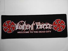 violent force  welcome  to the dead city   WOVEN  PATCH