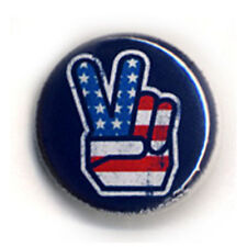 Badge AMERICAN PEACE flag US moto bike retro culte legend rock pin Ø25mm