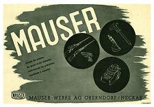 """Publicité Ancienne """"  MAUSER Armes de Chasse 1941 """" ( P. 24 ) F. Ollerich"""