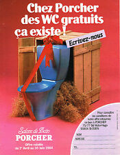 PUBLICITE ADVERTISING 034   1984   PORCHER   sanitaires wc