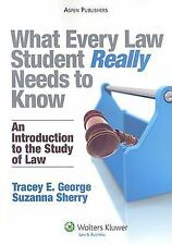 What Every Law Student Really Needs to Know : An Introduction to the Study of La