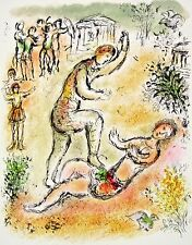 Combat Between Ulysses and Irus (The Odyessy) 1989, Ltd Ed Litho, Marc Chagall