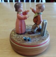 Reuge, The Anniversary Waltz, Switzerland Music Box ~ ANRI? Figurines ~ VIDEO