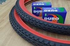 Two (2) Beach Cruiser 26x2.125 Bicycle Tires & Inner tubes Diamond Red Wall New