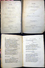 1837 THOMAS NOON TALFOURD ION A TRAGEDY IN ORIGINAL PAPER WRAPS