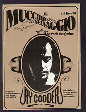 MUCCHIO SELVAGGIO WILD BUNCH 4/1978 RY COODER JOHN FAHEY CHARLIE POOLE FOLK ROCK