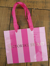 "Victoria's Secret Pink Stripe Soft Card Mini Carrier Bag  7.5"" x 6.25"""