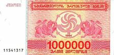 GEORGIA,  1000000=1 MILLION LARIS,  1994,   P 52,  UNC,  BANKNOTE,  EUROPE