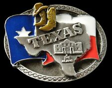 TEXAS STAR FLAG COWBOY COWGIRL BOOTS HATS WESTERN BELT BUCKLE BOUCLE DE CEINTURE