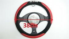 HSV BLACK & RED STEERING WHEEL COVER HOLDEN COMMODORE,BERLINA,BARINA,RODEO,MAZDA