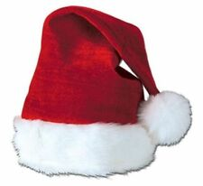 Plush Santa Hat One Size Fits Most NEW