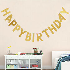 HAPPY BIRTHDAY Bunting Banner Garland Baby Shower Birthday Party Decoration