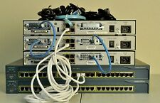 Cisco CCNA and CCNP home lab kit 3x1841 15.1 IOS, 2x2950 IOS 12.2