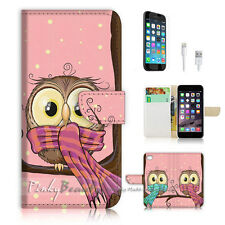 iPhone 6 6S Plus (5.5') Flip Wallet Case Cover! P1873 Owl
