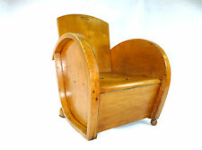 Rare Art Deco Children's chair Fucking chair Belgium um 1900 Tork