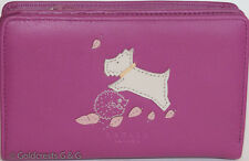 RADLEY Women's Pink Leather Flap Wallet Separate All-Around Zip Purse Free P&P