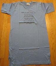 Night Shirts Gown  Vintage Dorm Shirt Sleep Shirt Blue XL Diplomat Trivia 50/50