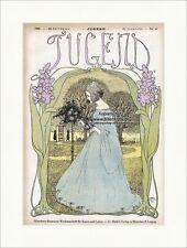 Titelseite der Nummer 40 von 1899 Heinrich Vogeler Fräulein Rosen Jugend 3195