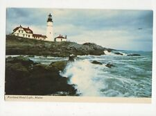 Portland Head Light Maine USA Old Lighthouse Postcard 369a ^