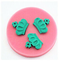 Crowns 3 Cavity Mini Silicone Mold for Fondant, Chocolate , Crafts