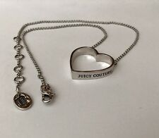 Women's Juicy Couture Heart Necklace Silver