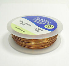 COPPER JEWELLERY WIRE - 0.60mm 22 GUAGE 500grams - NON TARNISH HIGH QUALITY