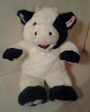 """White and Black Cow Plush Open Mouth Red 19""""  3+, Boys & Girls and TB Trading"""